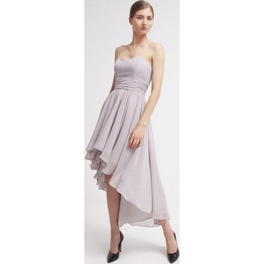 463797a5f Swing Sukienka koktajlowa hellbraunweiss zalando szary bez wzorów/nadruków  w Domodi