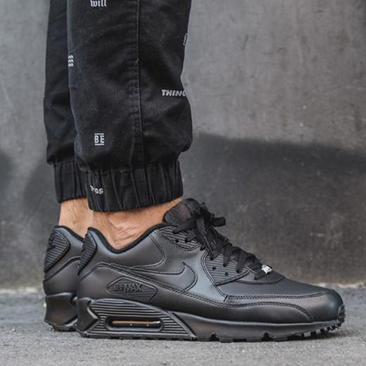 5ecf380816e4 BUTY MĘSKIE SNEAKERSY NIKE AIR MAX 90 LEATHER 302519 001 sneakerstudio-pl  czarny Buty do ...