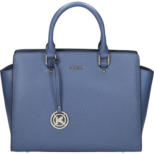 92a21e709cd9c Granatowa torebka skórzana kazar-com niebieski na ramię w Domodi