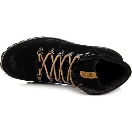 ba0fe65e4ec63 ... BIG STAR T174178 skórzane czarne buty męskie trapery butyraj-pl czarny  sznurówki ...