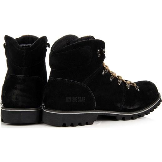 99d431c66fd83 ... BIG STAR T174178 skórzane czarne buty męskie trapery butyraj-pl czarny  Półbuty skórzane męskie ...
