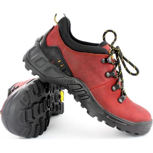 d2ec1d06440e5 ... Półbuty trekkingi Lesta 3512 czerwony - Czerwony butynalata-pl czerwony  skóra ...