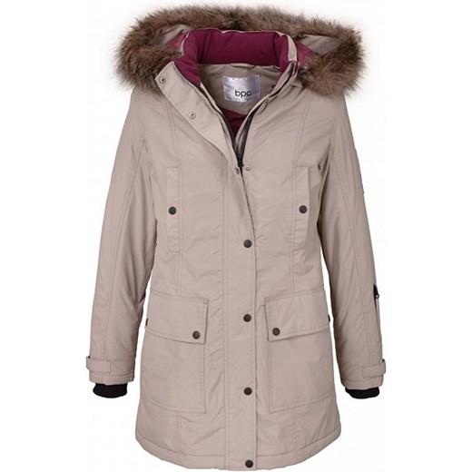 655bbf670b875 Długa kurtka outdoorowa bonprix szary kaptur w Domodi