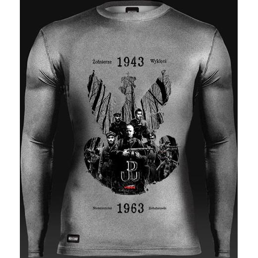 f38ab3176 Koszulka termoaktywna Żołnierze Wyklęci: Nieśmiertelni Bohaterowie - długi  rękaw red-is-bad szary