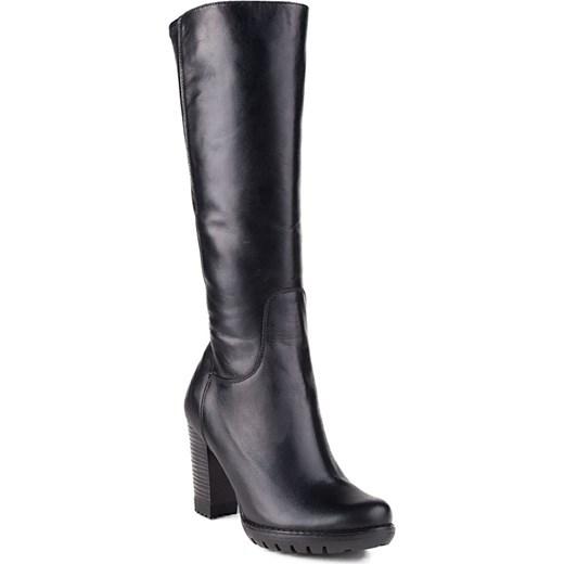 76160f38f1a0c 036K-001 Marco Shoes kozaki skórzane czarne milandi-pl damskie w Domodi
