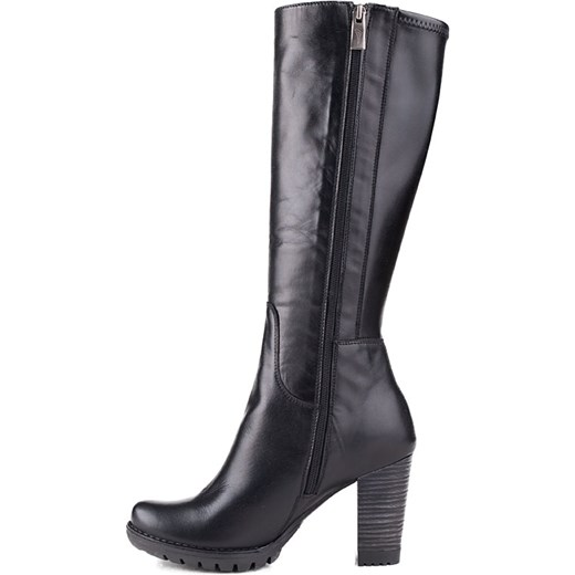 7230f4ed32b344 036K-001 Marco Shoes kozaki skórzane czarne milandi-pl damskie w Domodi