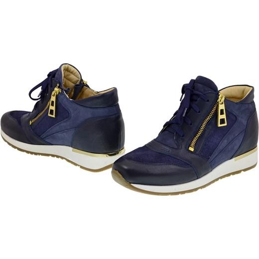 Sneakersy Botki Badura 6080 69 granat sklepkamil pl szary skórzane