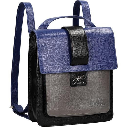 c7a86d161f96e ... czarny Plecaki damskie  Multikolorowy plecak skórzany kazar-com  niebieski Plecaki skórzane