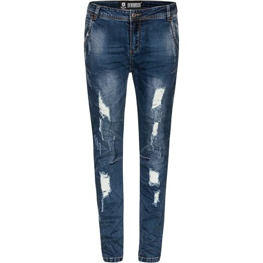 8066274bb75aa8 Spodnie typu BAGGY z prostą nogawką i regularnym stanem denimbox-pl szary  rurki ...