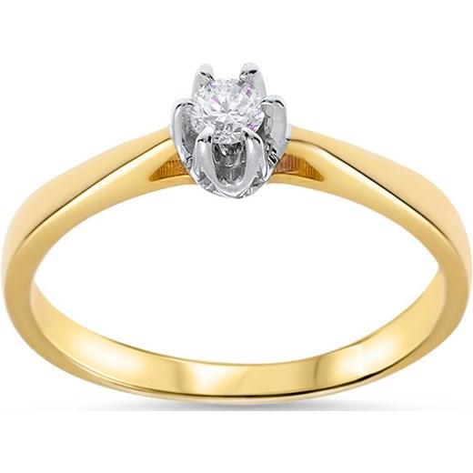 Złoty Pierścionek Zaręczynowy Pr585 Brylant Jedyny 010 Ct Viadem