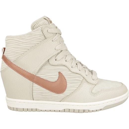 super popular d7d67 def50 ... Buty damskie sneakersy koturny Nike Dunk Sky HI 528899 013  sneakerstudio-pl bezowy lato ...