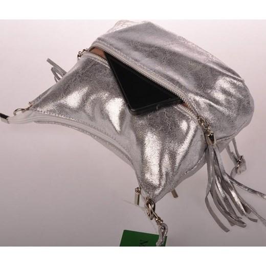 1544a577ede37 ... brazowy casual  MADE IN ITALY Postino 128 włoska torebka skórzana  listonoszka srebrna skorzana-com brazowy skóra
