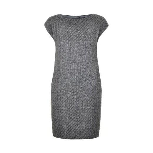 c026152c szara wełniana sukienka tatuum szary tkanina