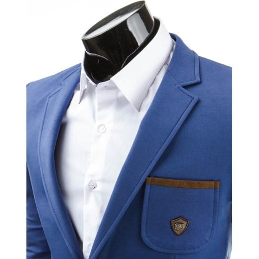 476113655fe43 Marynarka klubowa (mx0023) - Niebieski dstreet bawełna w Domodi