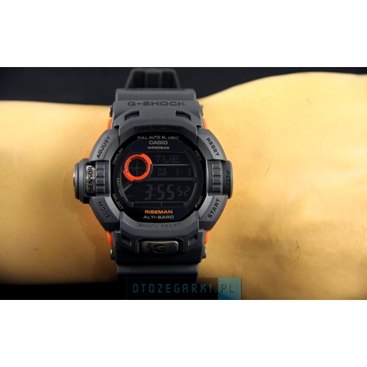 ZEGAREK CASIO G-9200GY-1ER RISEMAN G-Shock – Men In Smoky Grey Collection G 9200 otozegarki czarny wzory