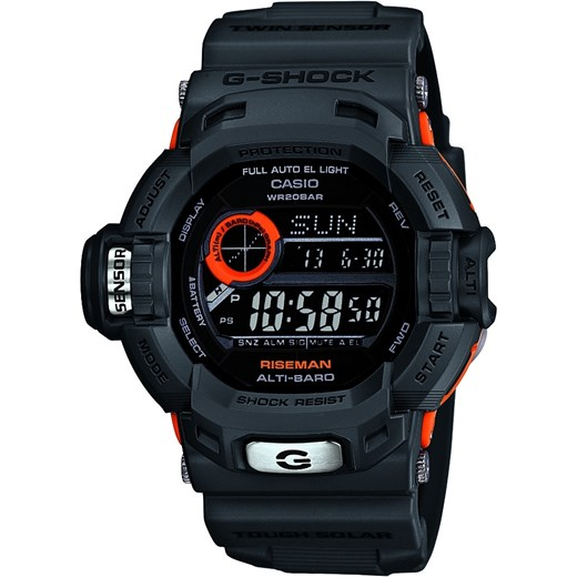 ZEGAREK CASIO G-9200GY-1ER RISEMAN G-Shock – Men In Smoky Grey Collection G 9200 otozegarki czarny damskie