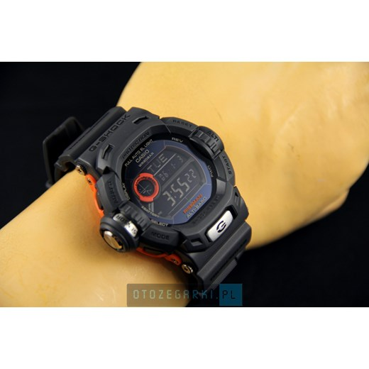ZEGAREK CASIO G-9200GY-1ER RISEMAN G-Shock – Men In Smoky Grey Collection G 9200 otozegarki zielony klasyczny
