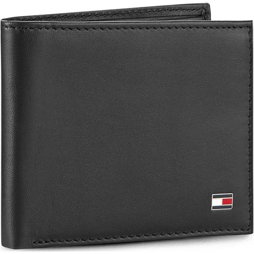 083dfaf98410c Mały Portfel Męski TOMMY HILFIGER - Eton Mini Cc Wallet AM0AM00655 Black  002 eobuwie-pl