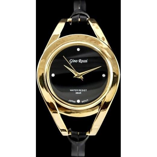 43e2593bdae7e ... Zegarek damski GINO ROSSI - FIORIS (zg570f) gold/black zegarki-cc czarny  ...