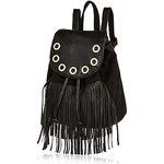 Girls black fringed backpack
