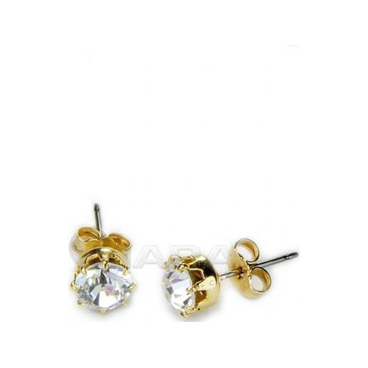 ca5a4980d9e69a Kolczyki wkręty złote kiara-sztuczna-bizuteria-jablonex złota w Domodi