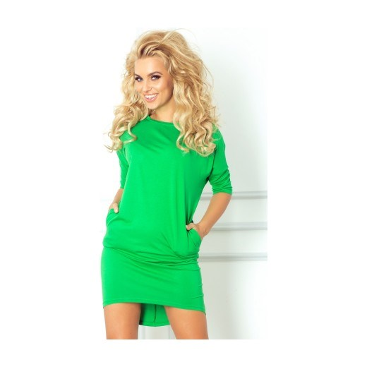 37871bf546 Sukienka bluzowana zielona piu-moda zielony sportowe w Domodi