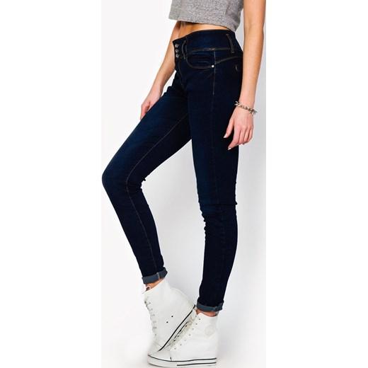 656d906231 Rurki jeansy z trzema guzikami zoio-pl czarny Jeansy damskie skinny ...