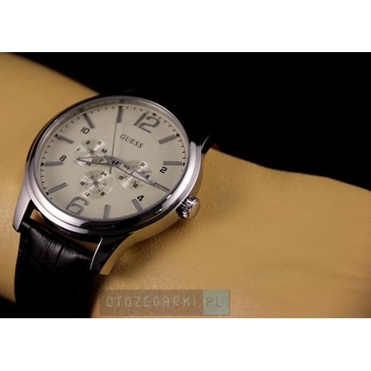 3b389d53d6cb7 Zegarek Męski GUESS W0294G1 otozegarki zielony minimalistyczny w Domodi