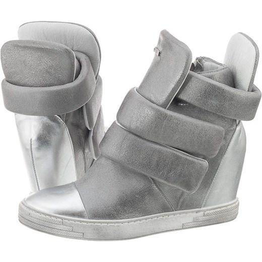beeee83a Sneakersy Carinii Srebrne B3493 (CI111-d) butsklep-pl szary Botki skórzane