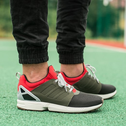 BUTY MĘSKIE SNEAKERSY ADIDAS ORIGINALS ZX FLUX NPS UPDT AF6354 sneakerstudio pl czarny elegancki