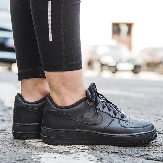 nike air force 1 gs damskie czarne