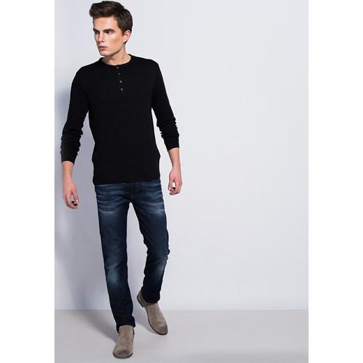 9cc60e8ea516 BLUZKA MĘSKA Z DŁUGIM RĘKAWEM CZARNA califorti czarny T-shirty męskie z  długim rękawem ...