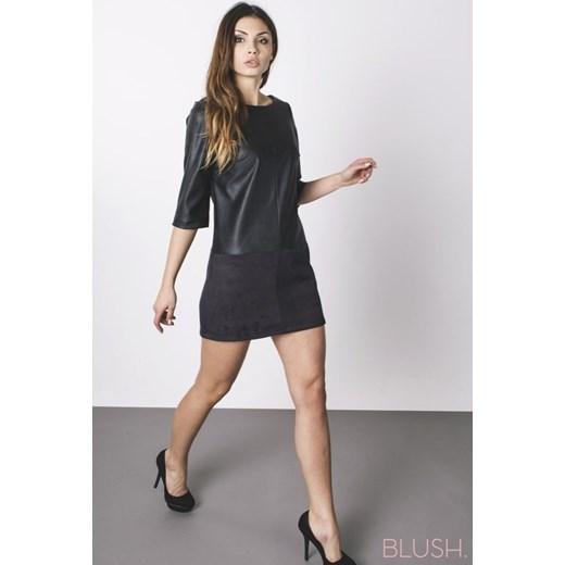33e2d1743f Sukienka trapezowa czarna showroom-pl szary mat w Domodi