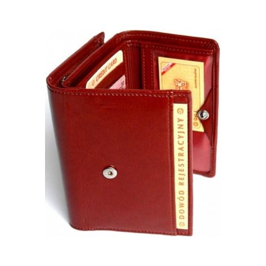 024f5fa535c66 ... Portfel Damski WILMAR 12 cm Suwak Skóra Włoska torebunie-pl czerwony  modne ...