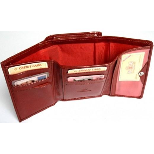 b7d32f873771b ... czerwony modne  Portfel Damski WILMAR 12 cm Suwak Skóra Włoska torebunie-pl  brazowy skóra ...