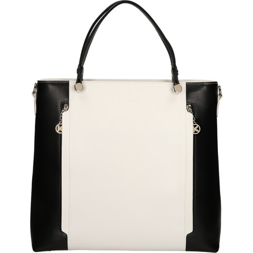 Biało czarna torebka do ręki kazar com bezowy elegancki w Domodi