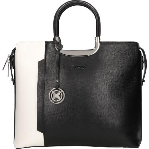 1436995cbd9f8 Czarno-biała torebka do ręki kazar-com czarny modne w Domodi