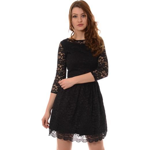 86d9c23139 Rozkloszowana Sukienka Koronkowa Czarna brendi-pl czarny mini w Domodi
