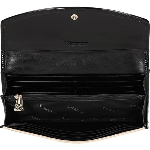 c92c7389c5d33 ... bezowy elegancki · Kremowo-czarny portfel damski kazar-com czarny  glamour ...