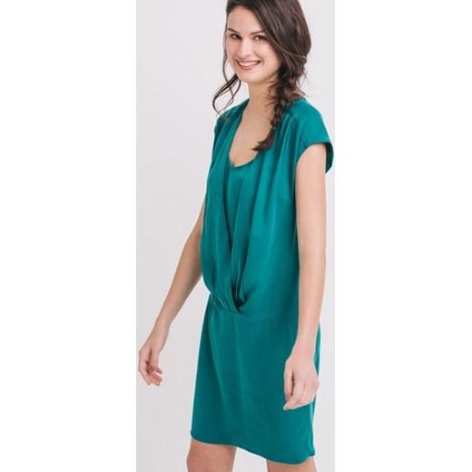 3057701952 Promod Drapowana sukienka promod-pl niebieski lato w Domodi