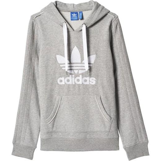 Bluza adidas ORIGINALS Slim Hoodie W AJ7628 hurtowniasportowa net szary bawelna