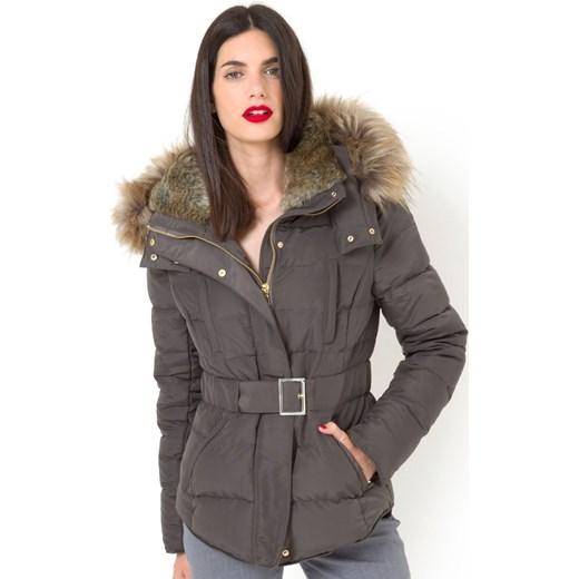 508d72d3d87f7 Krótka kurtka pikowana z prawdziwego puchu la-redoute-pl szary Kurtki  damskie pikowane ...