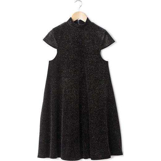 3f9c81bbb1 Sukienka w kształcie trapezu la-redoute-pl czarny elastan w Domodi