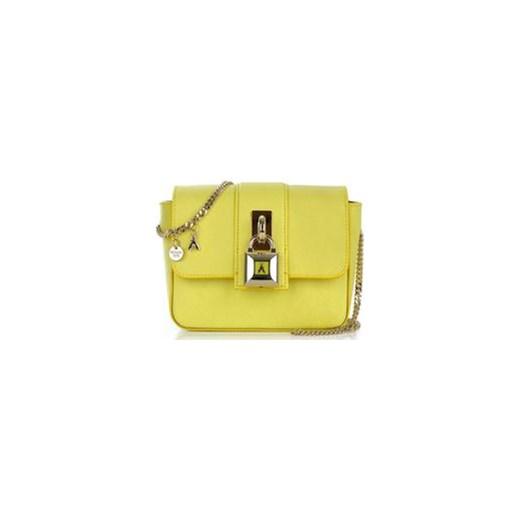 77cbb6a6 Patrizia Pepe mała torebka skórzana na ramię żółta royal-point zielony  casual