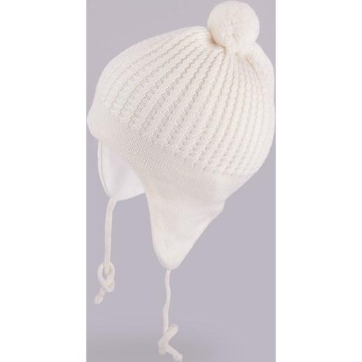 Ogromnie Wiązana czapka włóczkowa z wełny merino pomponem czapki-dla-dzieci FO89