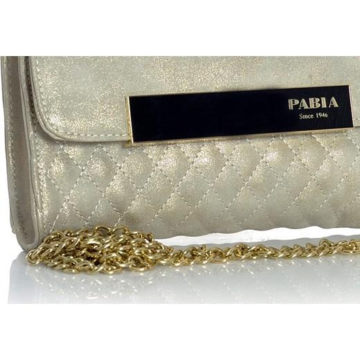 89ad7d5044 ... brazowy elegancki  PABIA Klasyczna torebka kopertówka biało-złoty  verostilo brazowy glamour ...