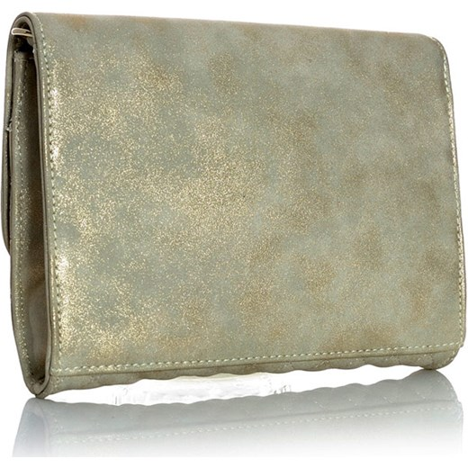 0fa007fdad ... brazowy glamour  PABIA Klasyczna torebka kopertówka biało-złoty  verostilo szary na łańcuszku