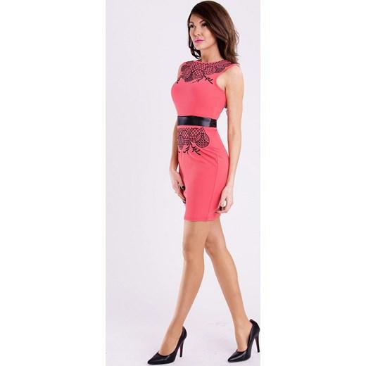 e3c7dc023f ... rozowy haft  Sukienka z ozdobnym haftem - różowa hege rozowy lato ...