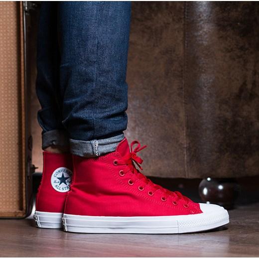 Buty męskie sneakersy Converse Chuck Taylor All Star II Hi Salsa 150145C sneakerstudio pl czerwony lato