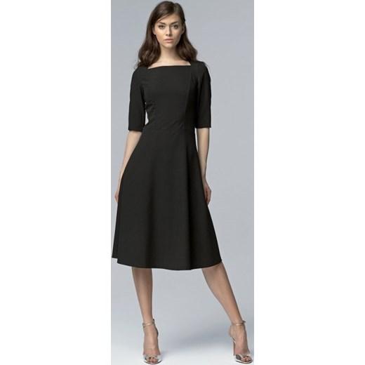 57779702a9 Nife Wizytowa midi sukienka w stylu RETRO